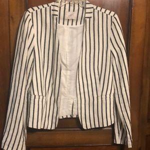 Cute Navy and white striped blazer